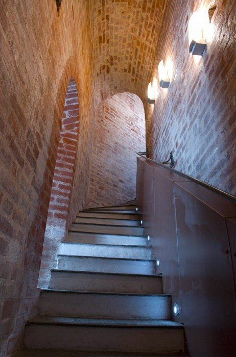 Through-the-wall staircase in the bell-tower