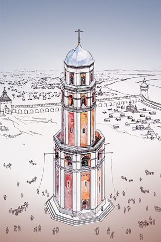 The Ivan the Great Bell Tower in the 16th century